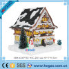 Vintage Style Christmas Glitter House with Lights