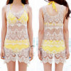 Fashion Korean Design Lace Corchet Sexy Beach Dress (50163)