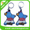 Custom Branded Soft PVC Key Ring for Promotion Gift (SLF-KC079)