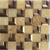 Beige Marble Mosaic Stainless Steel for TV Bachground (FYSM108)