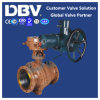 Electric Stellite Alloy Seat Flanged Trunnion Ball Valve V Type