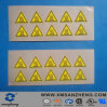 Semi Glossy Water Resistant Clear Self Adhesive Yellow Electric Labels