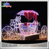 Holiday Outdoor Street Decoration 3D LED Sleigh Christmas Light