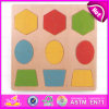 2015 Plywood Shape Jigsaw Puzzle for Kids, Wooden Geometric Shapes Puzzle for Children, Funny DIY Wooden Shape Puzzle Toy W14A128