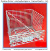 Foldable and Stackable Wire Mesh Storage Container for Warehouse