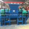 Fully Automatic Plastic Crushing Machine, Portable Double Shaft Shredder, Waste Recycle Station