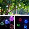 Solar Powered Crack Ball Hanging Light Ball Chandelier