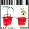 Plastic Wheeled Rolling Shopping Baskets