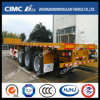 Hot Sales Cimc Huajun 3axle Flatbed Semi Trailer