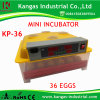 2017 Ce Approved Automatic Transparent Digital Small Egg Incubator for 36 Chickens