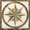 Waterjet Marble Mosaic Square Medallion
