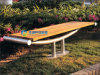 Backless Garden Bench Outdoor Furniture with Galvanized Steel Legs (FY-100X)