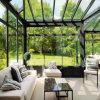 New Design! Prefabricated Good Quality Aluminum Frame Glass Sun House / Sun Room (TS-548)