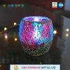 New Style Colored Cracked Glass Candle Holder