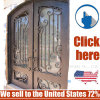 Cheap Price Metal Wroght Iron Door