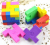 Cute 3D Magic Cube Puzzle Erasers/Rubber/Shape Eraser
