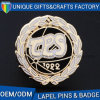 Top Sale Sport Style Gold Print Metal Badges