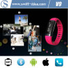 3 Colors Mtk6260 Fashion Smart Bluetooth Bracelet with Sleep Mobitor and Pedometer (V9)