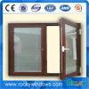 Woodgrain Color UPVC Casement Window From Rocky