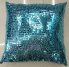 Sequin Embroidery Cushion Fashion Decorative Pillow (XPL-10)