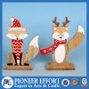 Wooden Fox and Deer Design for Christmas Home Ornament