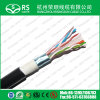 Black CAT6 F/UTP 23 AWG 4 Pair Shielded Outdoor Cable