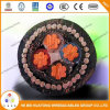 600/1000V 4 Core Cu/PVC/Swa/PVC Armored Power Cable
