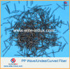 Concrete Fiber Reinforcement Polypropylene Curved Fiber Macro Fiber