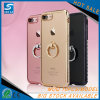 Rhinestone Ring Holder Electroplating Soft Mirror TPU Case for iPhone 7 Kickstand Case