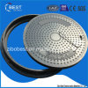 A15 En124 SMC Round 700*50mm FRP Manhole Cover with Frame