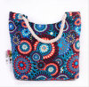 Printed Canvas Shoulder Bag Fashion Canvas Mummy Bag Cotton Rope Handbag Beach Bag
