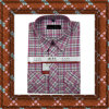 Light Red Men Plaid Shirt (HJ-GC-37)