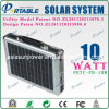 Portable 10W Solar Home Lighting System (PETC-FD-10W)