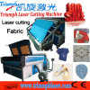 Garment Pattern Apparel Cloth Toys Laser Cutting /Engraving Machine with Camera Auto Feeding Jeans Textile