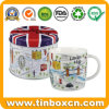 Round Mug Gift Tin for Metal Can Festival Packaging Box