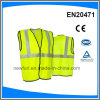 Fluorescent Yellow Reflective Safety Vest Logo Can Be Printting