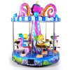 Fairground Amusement Park Kids Rides Coin Operated Game Machine 9 Seats Sea Animal Carousel for Sale
