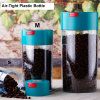 The Ultimate Vacuum Sealed Coffee Container, Black Cap & Clear Body