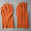 Orange PVC Glove with Terry Cloth Liner-5132