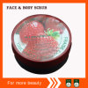 Round Tin Strawberry Body Scrub