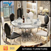 Living Room Stainless Steel Marble Dining Table
