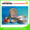 Western Design Rainbow Color Ceramic Dinner Set for Table Usage