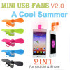 New Portable Mini Mobile Phone Fan Micro USB Port and 8pin Electric Cooling Fan for iPhone Samsung Cell Phone 2in1 Mini USB Fan