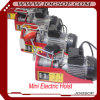 Portable Electric Hoist 800kg & 220V 50 60Hz, Mini Electric Wire Rope Hoist