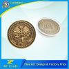Factory Price Customized Zinc Alloy 3D Craft Antique Gold Challenge Coin for Souvenir
