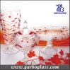 3PCS Diamond Colorful Glass Set of Vase&Candy Jar&Plate