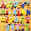Colorful Letter Magnets for Kids/Number Fridge Magnet/PVC Printing Puzzle Magnets