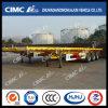 Cimc Huajun 3axle Flatbed Semi Trailer with High Quality