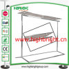 Stainless Steel Collapsible Garment Rail Rack with Tempering Glass Top