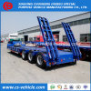 Factory Sale Heavy Duty 3 Axle 60t 100t Lowbed Semi Trailer with Mechanical Ramps